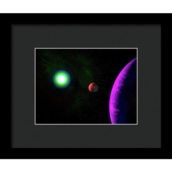 Sun-moon-planet Trio - Framed Print - 8.000 x 6.000 / Black / Black - Framed Print