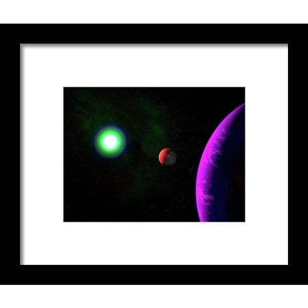 Sun-moon-planet Trio - Framed Print - 8.000 x 6.000 / Black / White - Framed Print