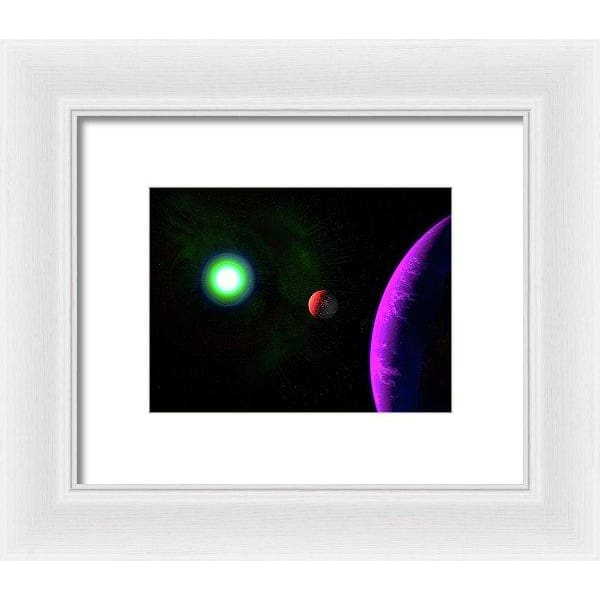 Sun-moon-planet Trio - Framed Print - 8.000 x 6.000 / White / White - Framed Print