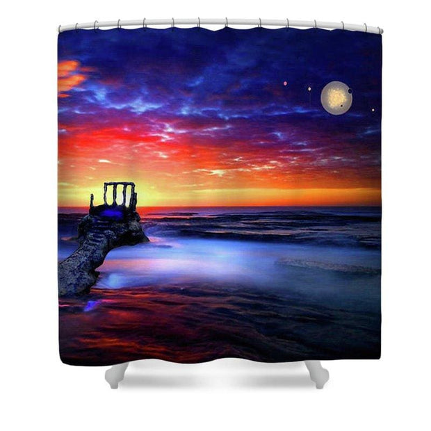 Talk To The Sky - Shower Curtain - 71 x 74 Standard - Shower Curtain