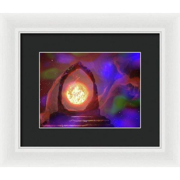 The Oracle - Framed Print - 10.000 x 7.500 / White / Black - Framed Print