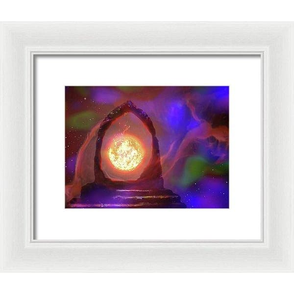 The Oracle - Framed Print - 10.000 x 7.500 / White / White - Framed Print