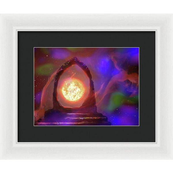 The Oracle - Framed Print - 12.000 x 9.000 / White / Black - Framed Print