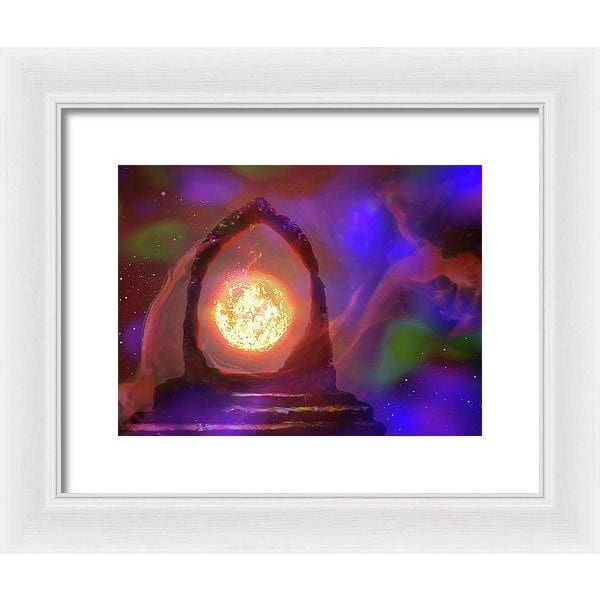 The Oracle - Framed Print - 12.000 x 9.000 / White / White - Framed Print