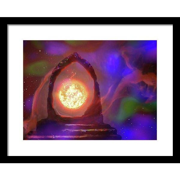 The Oracle - Framed Print - 16.000 x 12.000 / Black / White - Framed Print