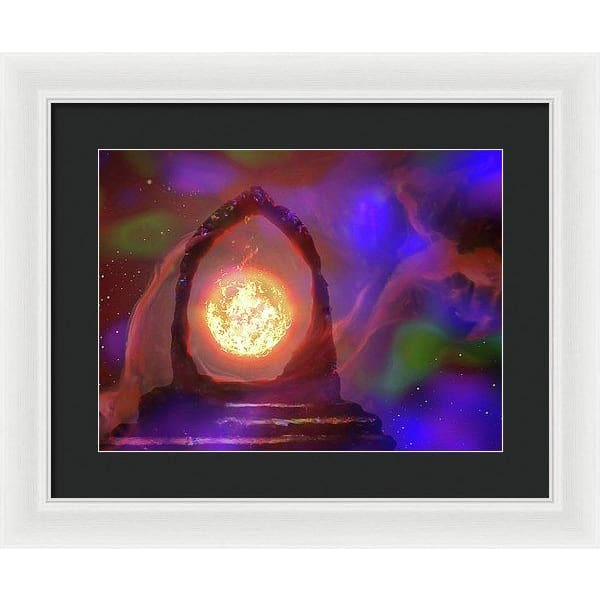 The Oracle - Framed Print - 16.000 x 12.000 / White / Black - Framed Print