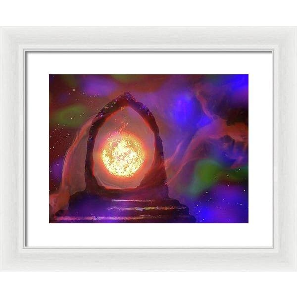 The Oracle - Framed Print - 16.000 x 12.000 / White / White - Framed Print