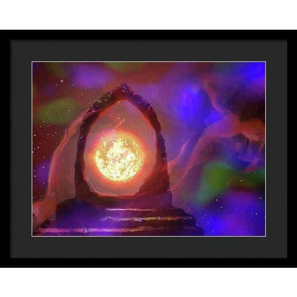The Oracle - Framed Print - 20.000 x 15.000 / Black / Black - Framed Print