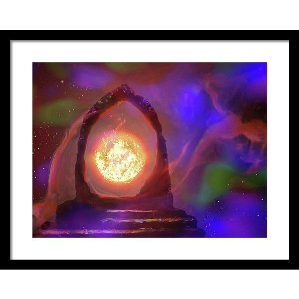 The Oracle - Framed Print - 20.000 x 15.000 / Black / White - Framed Print
