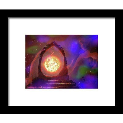 The Oracle - Framed Print - 8.000 x 6.000 / Black / White - Framed Print