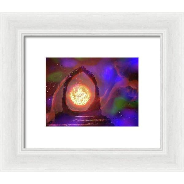 The Oracle - Framed Print - 8.000 x 6.000 / White / White - Framed Print