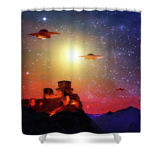 Unexpected Visitors - Shower Curtain - 71 x 74 Standard - Shower Curtain