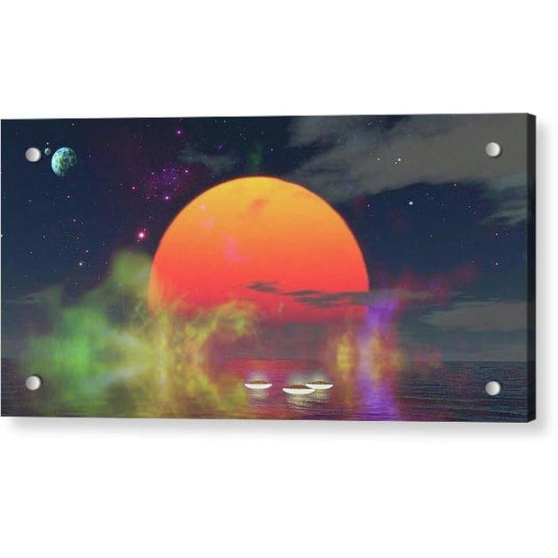 Water Planet - Acrylic Print - 12.000 x 6.000 / Aluminum Mounting Posts - Acrylic Print