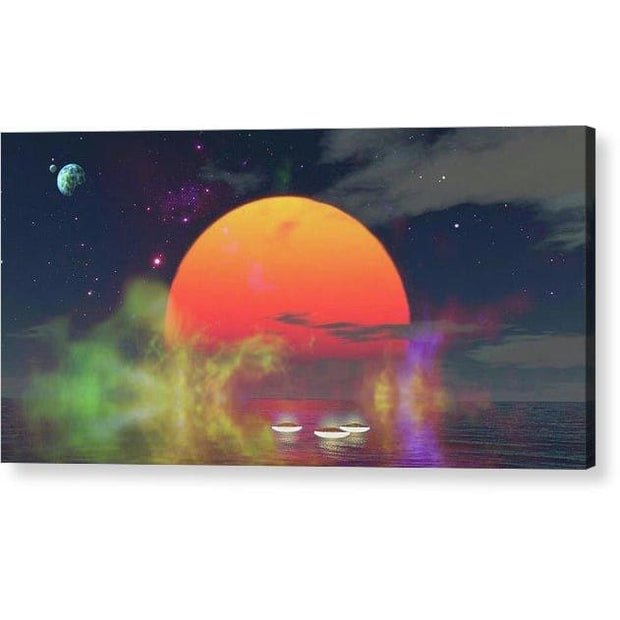Water Planet - Acrylic Print - 12.000 x 6.000 / Hanging Wire - Acrylic Print