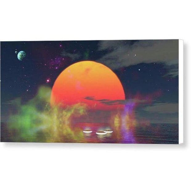 Water Planet - Canvas Print - 12.000 x 6.000 / White / Glossy - Canvas Print