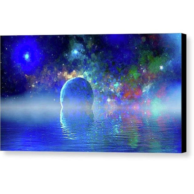 Water Planet One - Canvas Print - 12.000 x 6.750 / Black / Glossy - Canvas Print