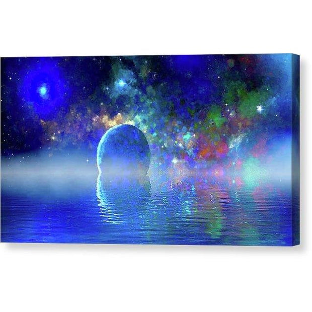 Water Planet One - Canvas Print - 12.000 x 6.750 / Mirrored / Glossy - Canvas Print