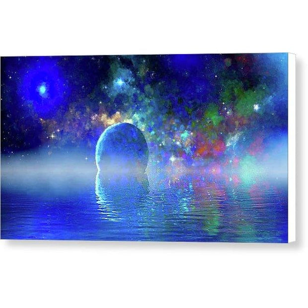 Water Planet One - Canvas Print - 12.000 x 6.750 / White / Glossy - Canvas Print