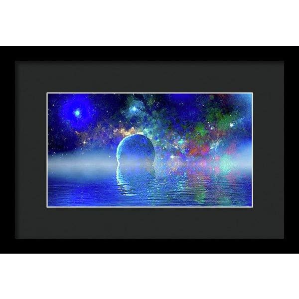 Water Planet One - Framed Print - 12.000 x 6.750 / Black / Black - Framed Print