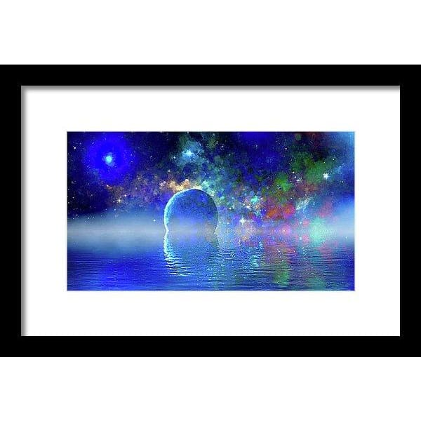 Water Planet One - Framed Print - 12.000 x 6.750 / Black / White - Framed Print