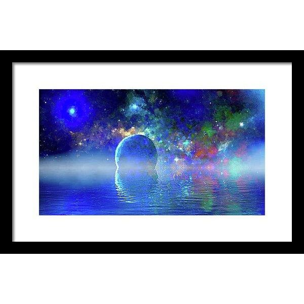 Water Planet One - Framed Print - 16.000 x 9.000 / Black / White - Framed Print