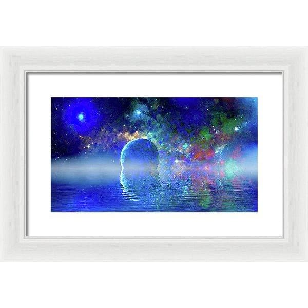 Water Planet One - Framed Print - 16.000 x 9.000 / White / White - Framed Print