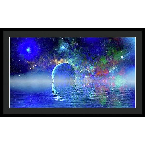 Water Planet One - Framed Print - 36.000 x 20.250 / Black / Black - Framed Print