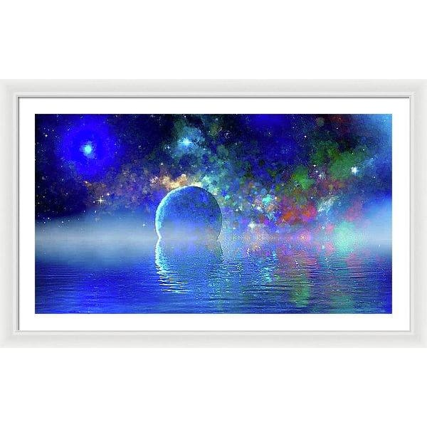 Water Planet One - Framed Print - 40.000 x 22.500 / White / White - Framed Print