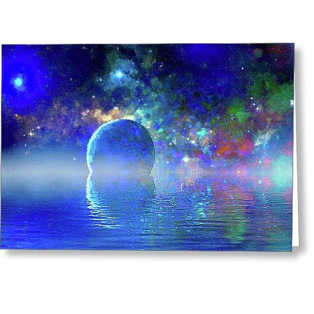 Water Planet One - Greeting Card - Single Card - Greeting Card