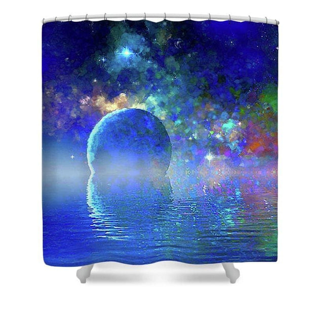Water Planet One - Shower Curtain - 71 x 74 Standard - Shower Curtain