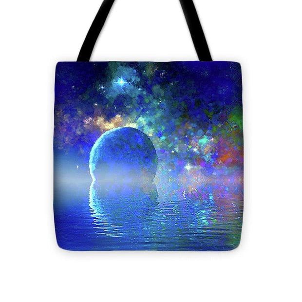 Water Planet One - Tote Bag - 16 x 16 - Tote Bag