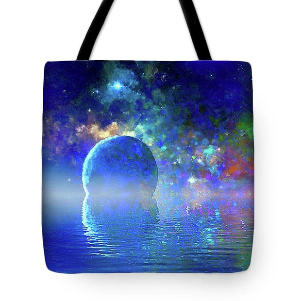 Water Planet One - Tote Bag - 18 x 18 - Tote Bag
