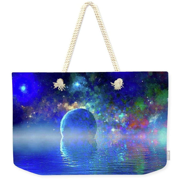 Water Planet One - Weekender Tote Bag - 24 x 16 / Natural - Weekender Tote Bag