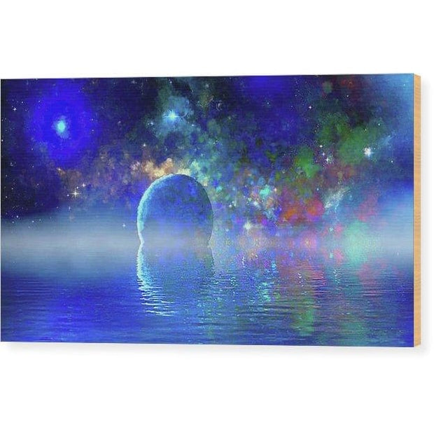 Water Planet One - Wood Print - 12.000 x 6.750 - Wood Print