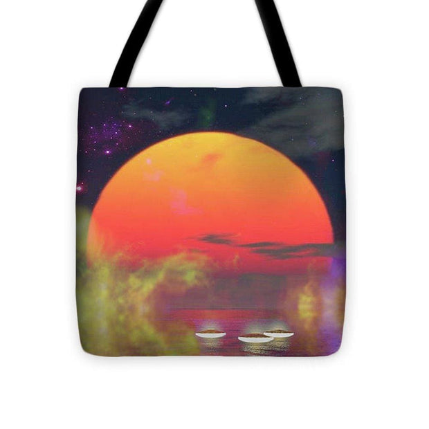 Water Planet - Tote Bag - 16 x 16 - Tote Bag