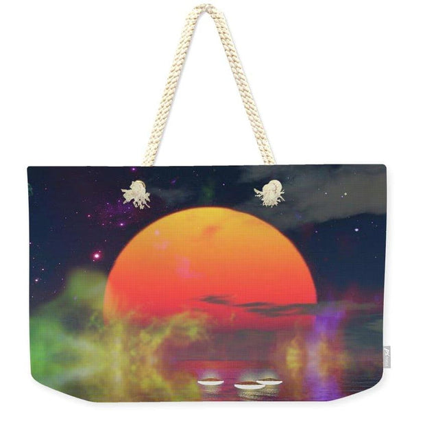 Water Planet - Weekender Tote Bag - 24 x 16 / Natural - Weekender Tote Bag
