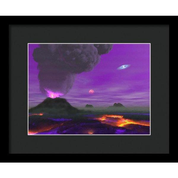 Young Planet - Framed Print - 12.000 x 9.000 / Black / Black - Framed Print
