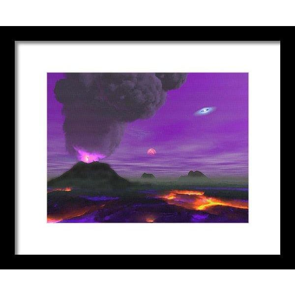 Young Planet - Framed Print - 12.000 x 9.000 / Black / White - Framed Print