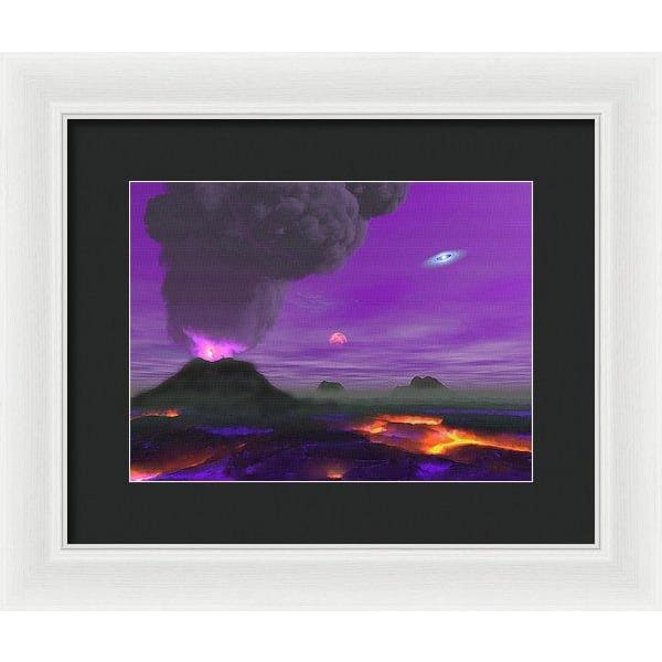 Young Planet - Framed Print - 12.000 x 9.000 / White / Black - Framed Print