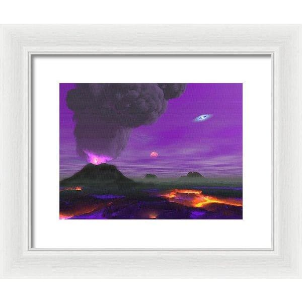 Young Planet - Framed Print - 12.000 x 9.000 / White / White - Framed Print