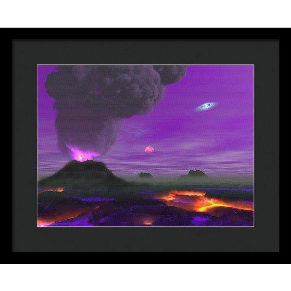 Young Planet - Framed Print - 16.000 x 12.000 / Black / Black - Framed Print