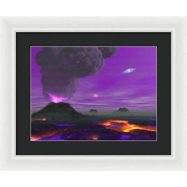 Young Planet - Framed Print - 16.000 x 12.000 / White / Black - Framed Print