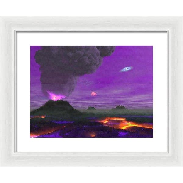 Young Planet - Framed Print - 16.000 x 12.000 / White / White - Framed Print