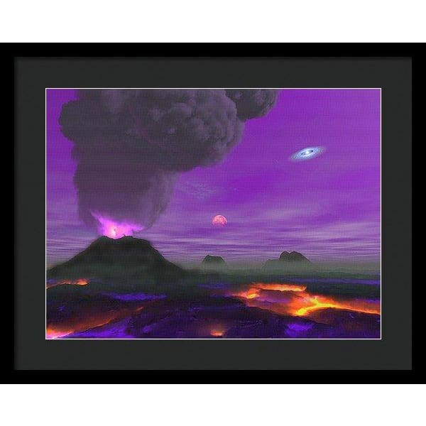 Young Planet - Framed Print - 20.000 x 15.000 / Black / Black - Framed Print