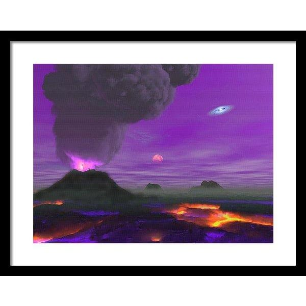 Young Planet - Framed Print - 20.000 x 15.000 / Black / White - Framed Print