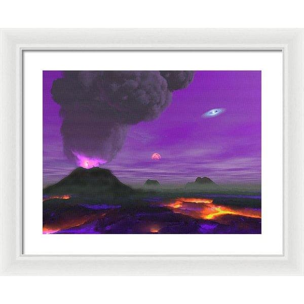 Young Planet - Framed Print - 20.000 x 15.000 / White / White - Framed Print