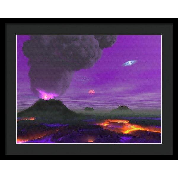 Young Planet - Framed Print - 24.000 x 18.000 / Black / Black - Framed Print