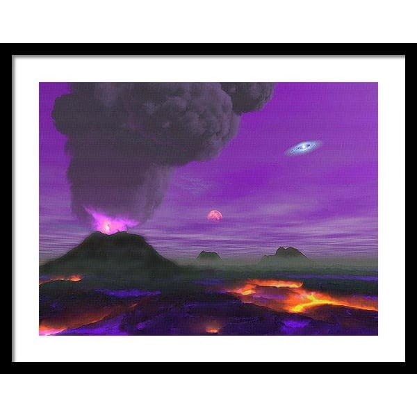 Young Planet - Framed Print - 24.000 x 18.000 / Black / White - Framed Print