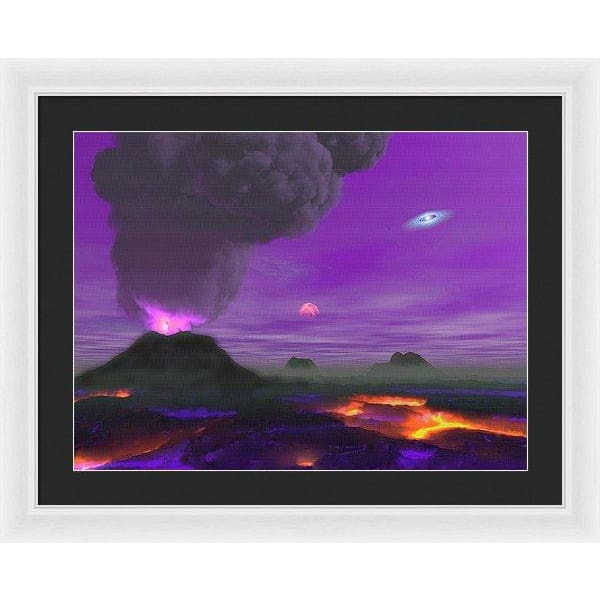 Young Planet - Framed Print - 24.000 x 18.000 / White / Black - Framed Print