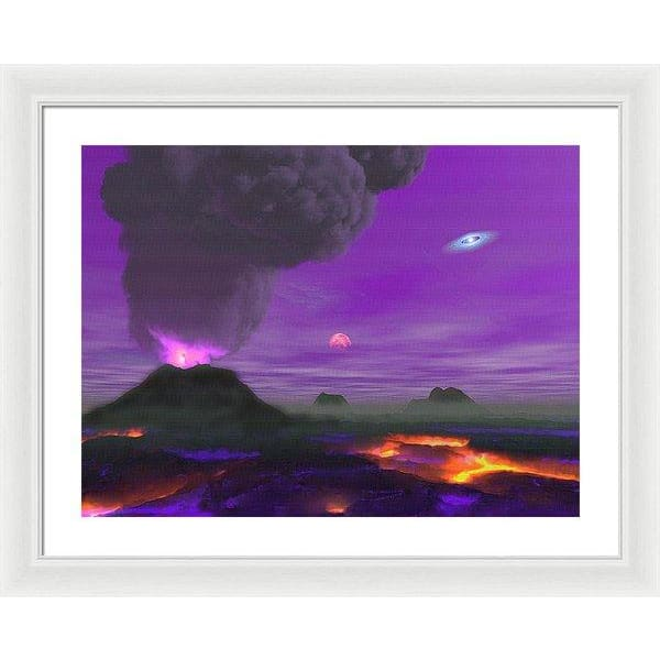 Young Planet - Framed Print - 24.000 x 18.000 / White / White - Framed Print